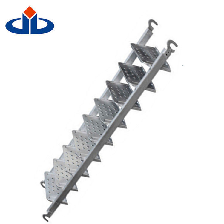 High Strength Layher Scaffolding Parts Telescopic Silverstep Scaffold Ladder