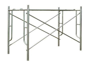High Strength Walk Through Scaffold Frames Painted Steel Frame Scaffolding