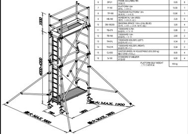 Mobile Aluminium Scaffold Tower Durable 7.5m Easy Towers Scaffolding